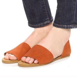 Madewell Thea sandal lava rock color size 8